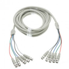 BNC x 5 Male to BNC x 5 Male Cable, Double-Shielded, 25 foot