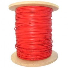 18/2 (18AWG 2C) Solid FPLR Fire Alarm / Security Cable, Red, 1000 ft, Spool