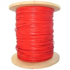 Fire Alarm / Security Cable, Red, 18/4 (18 AWG 4 Conductor), Solid, FPLR, Spool, 1000 foot