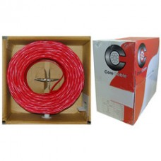 Fire Alarm / Security Cable, Red, 16/2 (16 AWG 2 Conductor), Solid, FPLR, Pullbox, 1000 foot