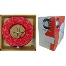 Fire Alarm / Security Cable, Red, 14/2 (14 AWG 2 Conductor), Solid, FPLR, Pullbox, 1000 foot