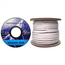 Plenum Speaker Cable, White, Pure Copper, 16/2 (16 AWG 2 Conductor), 19 Strand / 0.297mm, CMP, Spool, 1000 foot