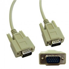 VGA Cable, Low resolution, HD15 Male, 15 Conductor, 10 foot