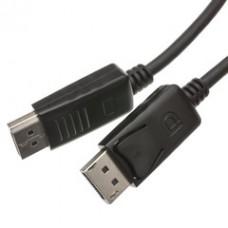 DisplayPort 1.2 Video Cable, DisplayPort Male, 10 foot