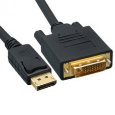 DisplayPort to DVI Video Cable, DisplayPort Male to DVI Male, 15 foot