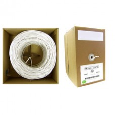 18/2 (18AWG 2C) Stranded Security Cable, White, 1000 ft