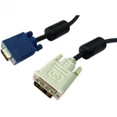 DVI-A to VGA Cable (Analog), Black, DVI-A Male to HD15 Male, 2 meter (6.6 foot)