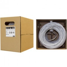Bulk Cat5e Gray Ethernet Cable, Solid, UTP (Unshielded Twisted Pair), Pullbox, 500 foot