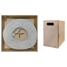 Bulk Shielded Cat5e Gray Ethernet Cable, Stranded, Pullbox, 1000 foot
