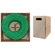 Bulk Cat6 Green Ethernet Cable, Solid, UTP (Unshielded Twisted Pair), Pullbox, 1000 foot