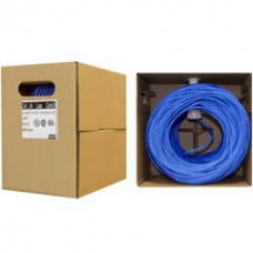 Bulk Cat5e Blue Ethernet Cable, Solid, UTP (Unshielded Twisted Pair), Pullbox, 500 foot