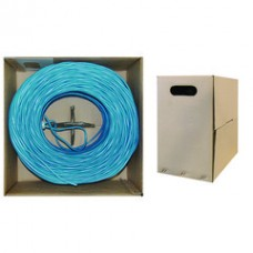 Bulk Dual Cat5e and Dual RG6 Quad Shield with Blue Outer Jacket, Spool, 500 foot