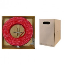 Bulk Cat6 Red Ethernet Cable, Solid, UTP (Unshielded Twisted Pair), Pullbox, 1000 foot