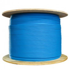 Bulk Shielded Cat5e Blue Ethernet Cable, Solid, Spool, 1000 foot