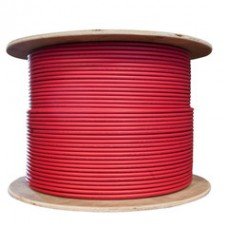 Bulk Shielded Cat5e Red Ethernet Cable, Solid, Spool, 1000 foot