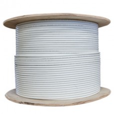 Bulk Shielded Cat5e White Ethernet Cable, Solid, Spool, 1000 foot