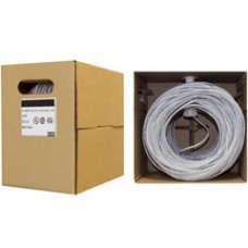 Bulk Cat6 Gray Ethernet Cable, Solid, UTP (Unshielded Twisted Pair), Pullbox, 500 foot