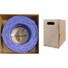 Bulk Cat6 Purple Ethernet Cable, Solid, UTP (Unshielded Twisted Pair), Pullbox, 1000 foot