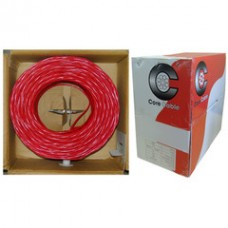 Plenum Fire Alarm / Security Cable, Red, 18/2 (18 AWG 2 Conductor), Solid, FPLP, Pullbox, 1000 foot