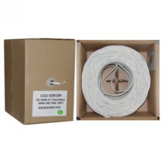 Plenum Speaker Cable, White, Pure Copper, 18/2 (18 AWG 2 Conductor), 7 Strand / 0.386mm, CMP, Pullbox, 1000 foot