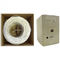 Plenum Security Cable, White, 18/2 (18 AWG 2 Conductor), Stranded, CMP, Pullbox, 1000 foot