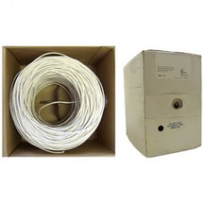 Plenum Security Cable, White, 14/2 (14 AWG 2 Conductor), Stranded, CMP, Spool, 1000 foot