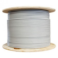 Plenum Cat5e Bulk Cable, Gray, Solid, Shielded, CMP, 24 AWG, Spool, 1000 foot