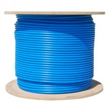 Bulk Cat6a Blue Ethernet Cable, 10 gig Solid, UTP (Unshielded Twisted Pair), 500Mhz, 23 AWG, Spool, 1000 foot