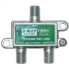 F-pin Coaxial Splitter, 2 way, 1 GHz 90 dB