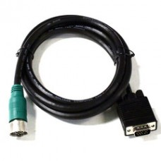 EZ Pull Green Male to VGA (HD15) Male Adapter Cable 6 foot