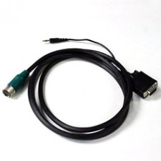 EZ Pull Green Male to VGA (HD15) Male + 3.5mm Stereo Audio Adapter Cable 6 foot
