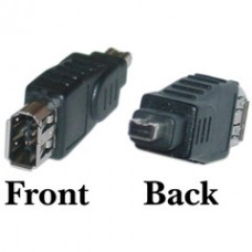 Firewire Adapter, IEEE-1394a , 6 Pin Female / 4 Pin Male