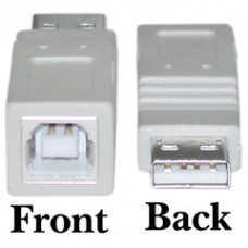 USB A to B Adapter, Type A Male to Type B Female
