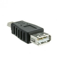 USB A Female to USB Mini-B 5 Pin Male Adapter