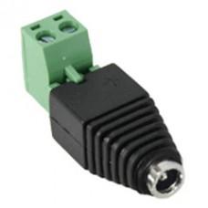 DC Female Power Plug to 2 Pin Terminal (Screw Down) Adapter