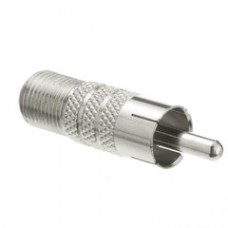 F-pin Female to RCA Male Adapter