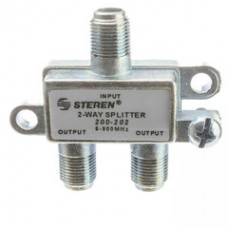 F-pin Coaxial Splitter, 2 Way