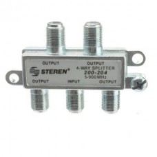 F-Pin Coaxial Splitter, 4 Way