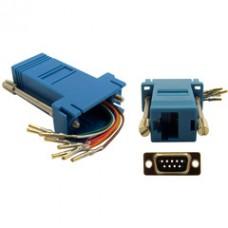 Modular Adapter, Blue, DB9 Female to RJ45 Jack