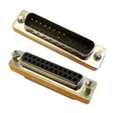DB25 Male / DB25 Female, Mini Null Modem Adaptor