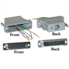 Modular Adapter, Gray, DB25 Male to RJ12