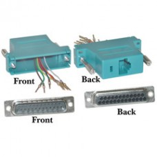 Modular Adapter, Blue, DB25 Male to RJ45