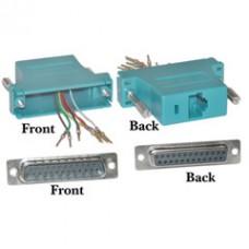 Modular Adapter, Blue, DB25 Female to RJ45