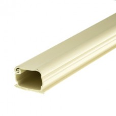 1.25 inch Surface Mount Cable Raceway, Ivory, Straight 6 foot Section