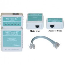 NETest-E Network Cable Tester, Tests Cat5e Cat6 and Cat6a for Wiring Map and Continuity