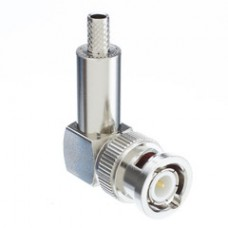 RG58 BNC Right Angle Crimp Connector