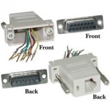 Modular Adapter, Beige, DB15 Male to RJ45 Female