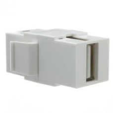 Keystone Insert, White, USB 2.0 Type A Female Coupler