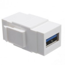 Keystone Insert, White, USB 3.0 Type A Female Coupler