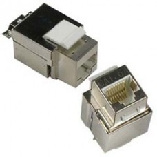 Shielded Cat6a Keystone Jack, RJ45 Female to 110 Punch Down